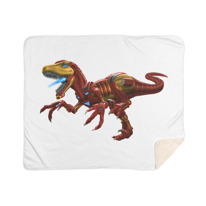 Iron Raptor Home Sherpa Blanket Blanket by Ayota Illustration Shop