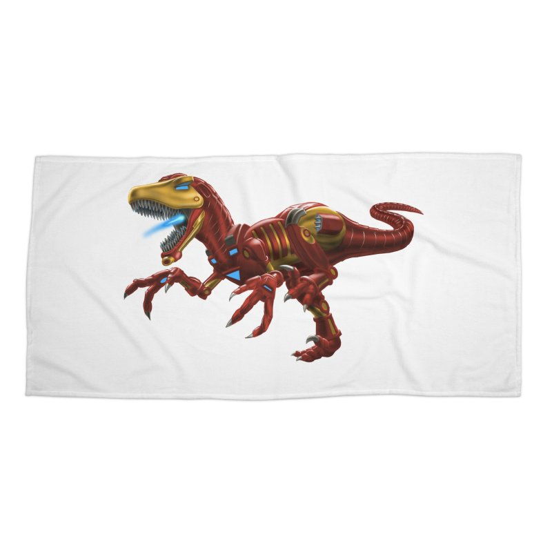 Iron Raptor Accessories Beach Towel by Ayota Illustration Shop