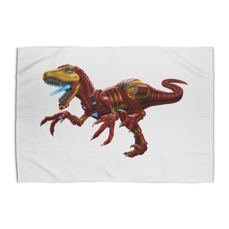 Iron Raptor Home Rug by Ayota Illustration Shop