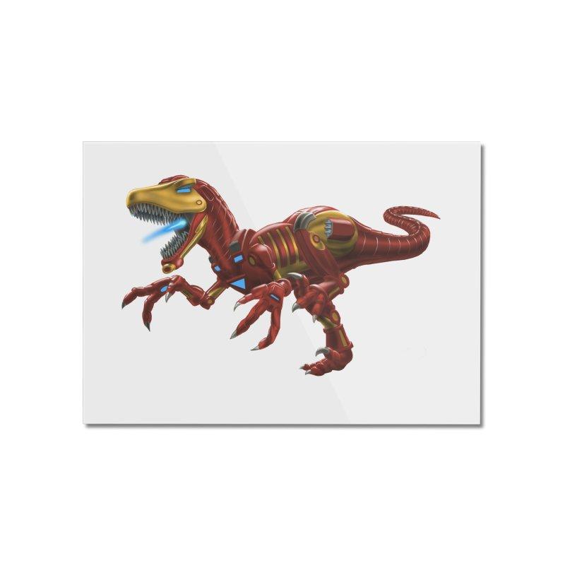 Iron Raptor Home Mounted Acrylic Print by Ayota Illustration Shop