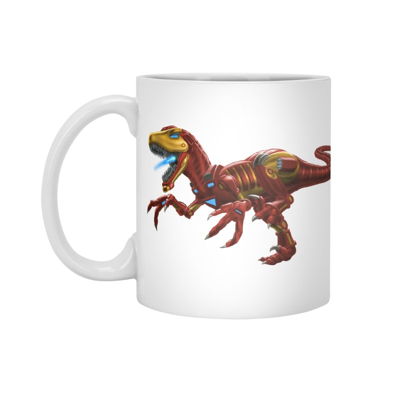 Iron Raptor Accessories Mug by Ayota Illustration Shop