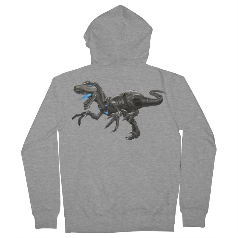Metal Raptor Women's French Terry Zip-Up Hoody by Ayota Illustration Shop