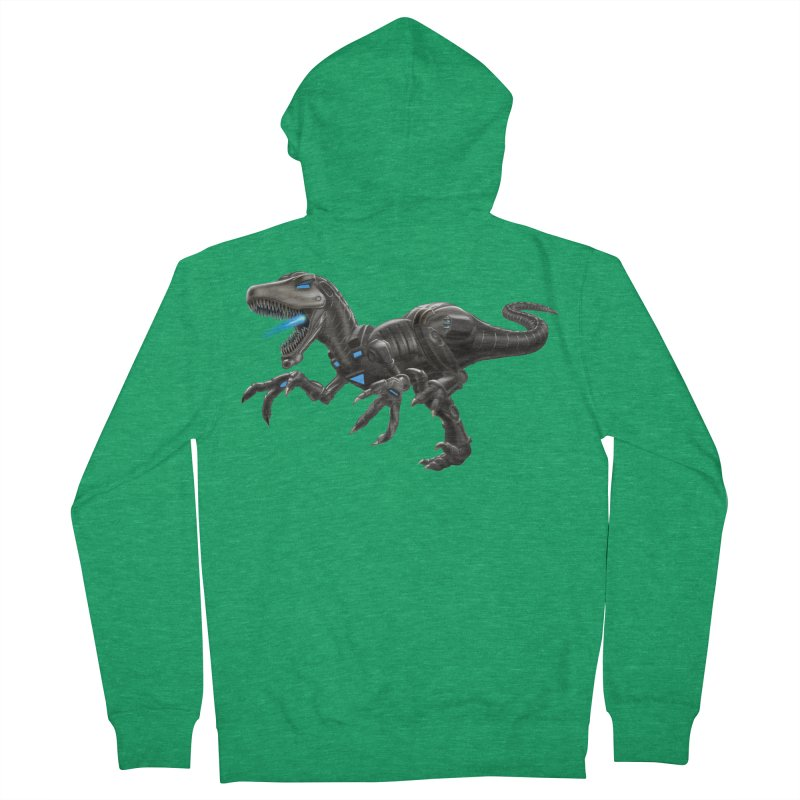 Metal Raptor Men's Zip-Up Hoody by Ayota Illustration Shop