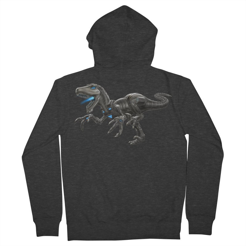 Metal Raptor Men's French Terry Zip-Up Hoody by Ayota Illustration Shop
