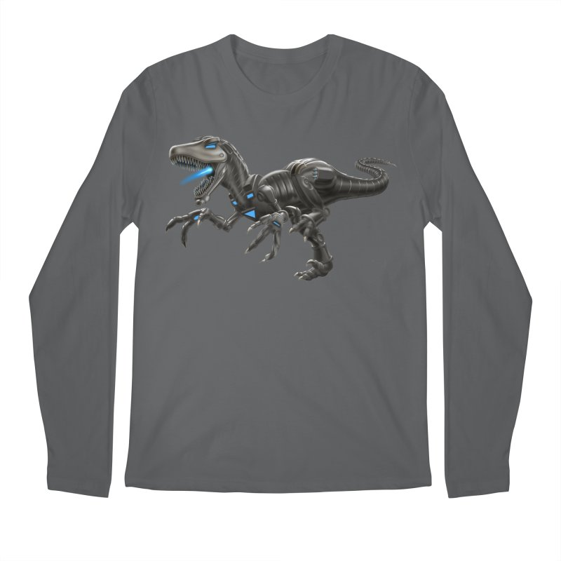 Metal Raptor Men's Longsleeve T-Shirt by Ayota Illustration Shop