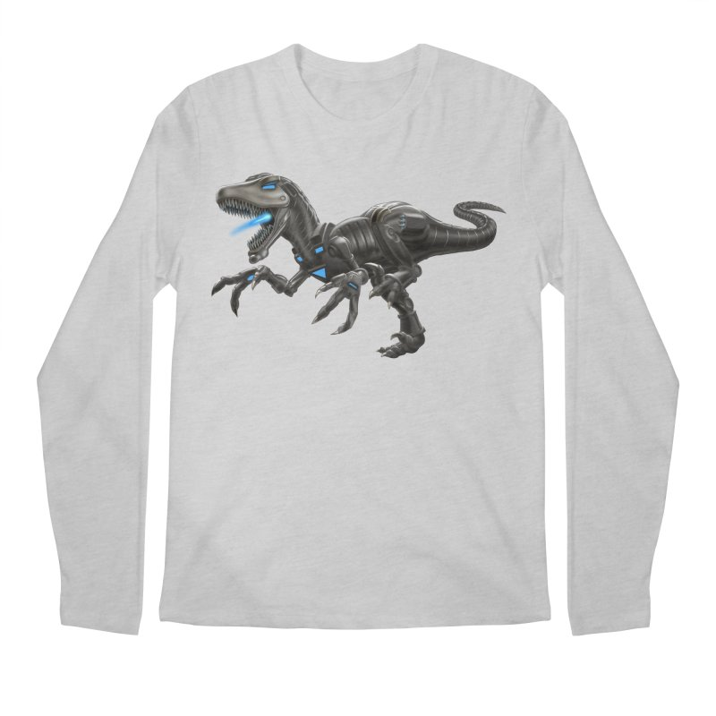 Metal Raptor Men's Regular Longsleeve T-Shirt by Ayota Illustration Shop