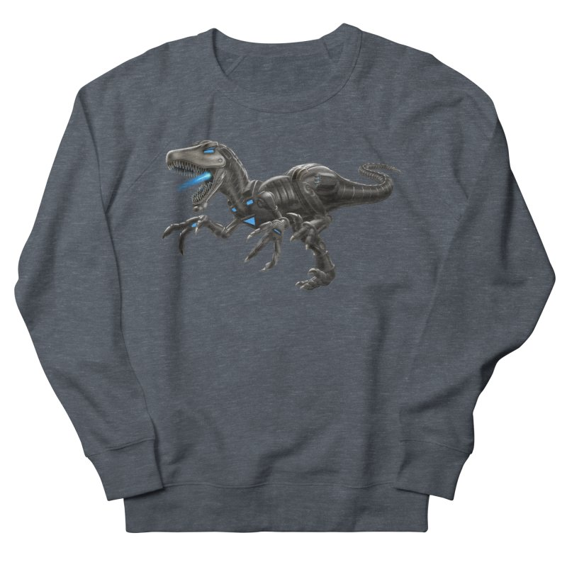 Metal Raptor Men's French Terry Sweatshirt by Ayota Illustration Shop