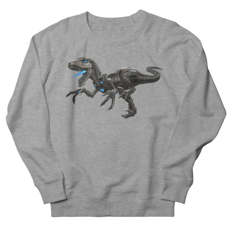 Metal Raptor Men's French Terry Sweatshirt by Ayota Illustration Shop