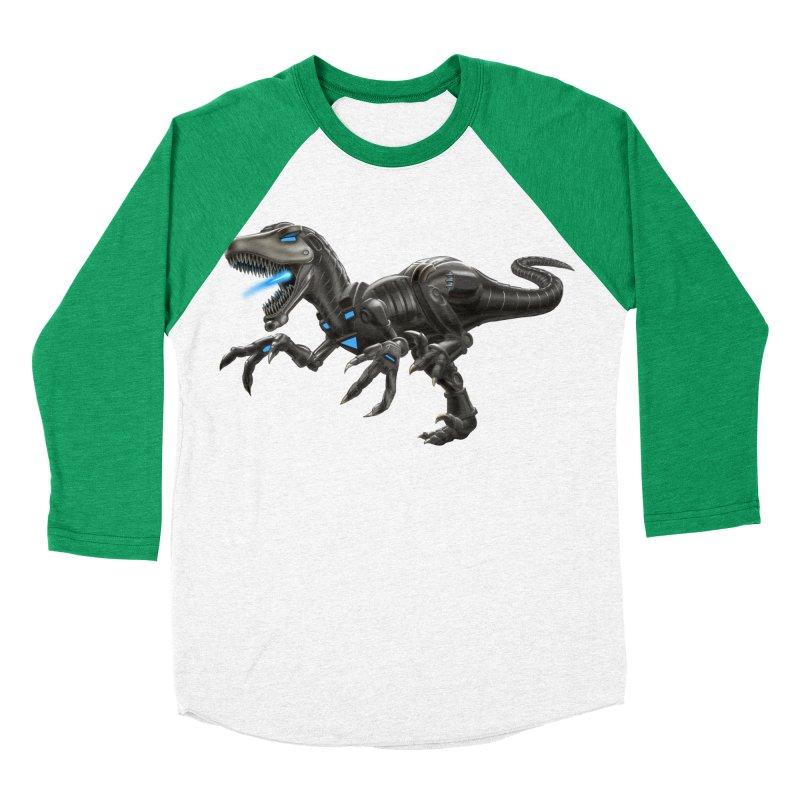 Metal Raptor Men's Baseball Triblend Longsleeve T-Shirt by Ayota Illustration Shop