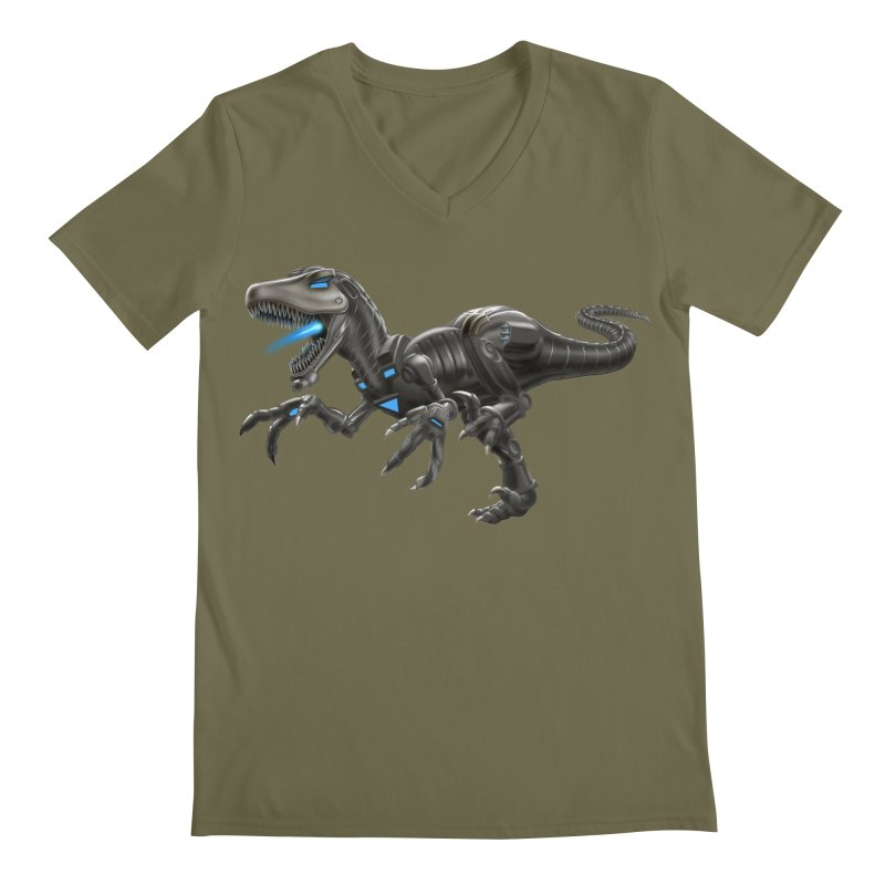 Metal Raptor Men's V-Neck by Ayota Illustration Shop