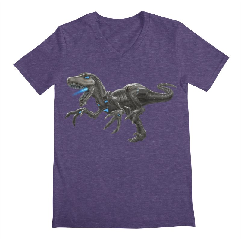 Metal Raptor Men's Regular V-Neck by Ayota Illustration Shop