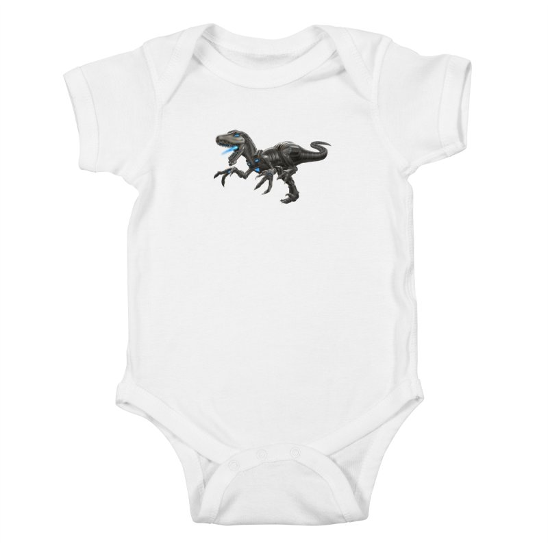 Metal Raptor Kids Baby Bodysuit by Ayota Illustration Shop