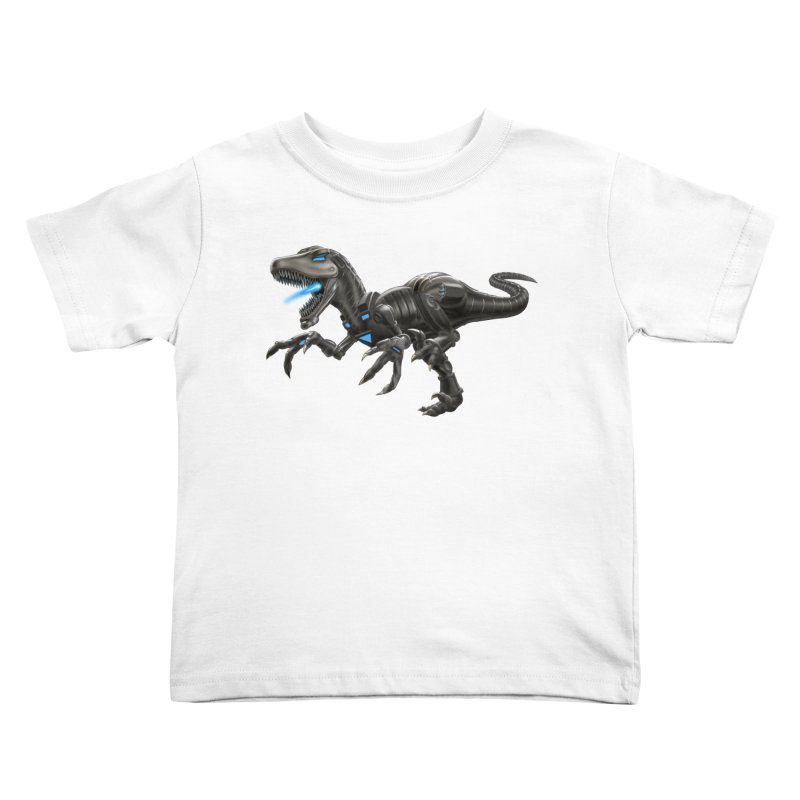 Metal Raptor Kids Toddler T-Shirt by Ayota Illustration Shop