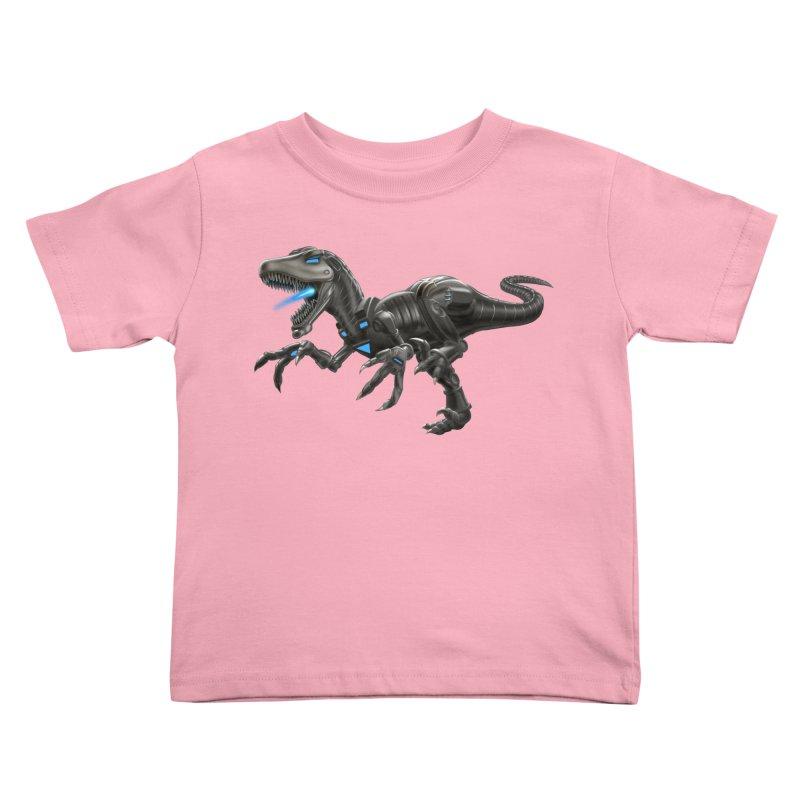 Metal Raptor Kids Toddler T-Shirt by Ayota Illustration Shop
