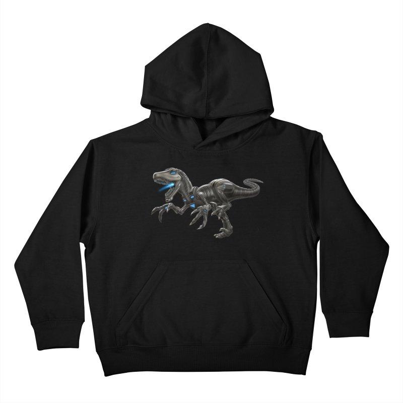 Metal Raptor Kids Pullover Hoody by Ayota Illustration Shop
