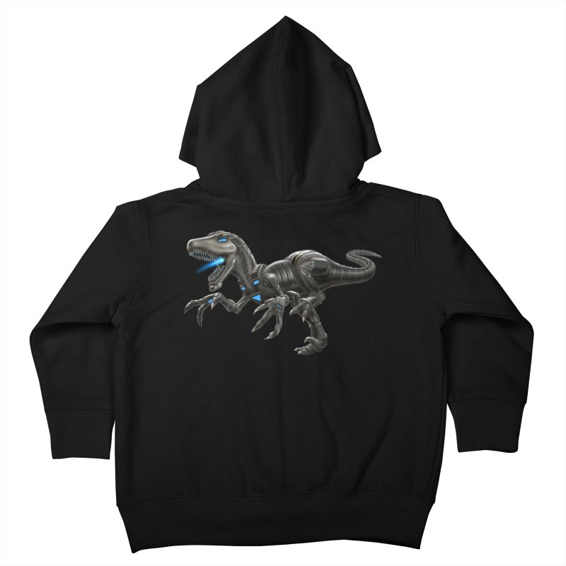 Metal Raptor Kids Toddler Zip-Up Hoody by Ayota Illustration Shop