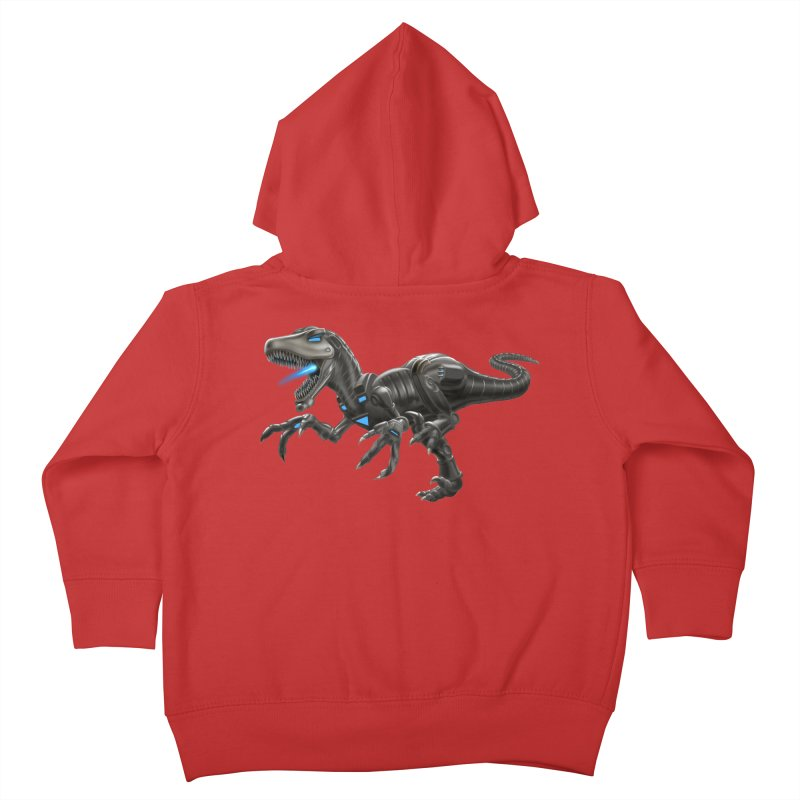 Metal Raptor Kids Toddler Zip-Up Hoody by Ayota Illustration Shop