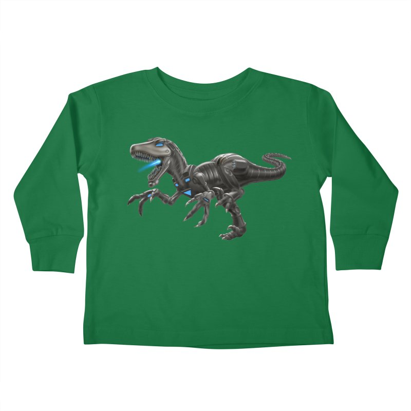 Metal Raptor Kids Toddler Longsleeve T-Shirt by Ayota Illustration Shop