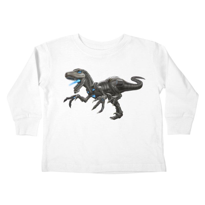 Metal Raptor Kids Toddler Longsleeve T-Shirt by Ayota Illustration Shop