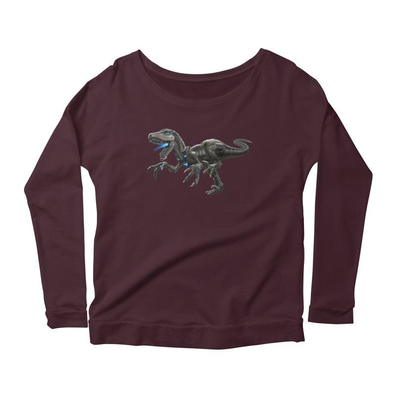 Metal Raptor Women's Scoop Neck Longsleeve T-Shirt by Ayota Illustration Shop