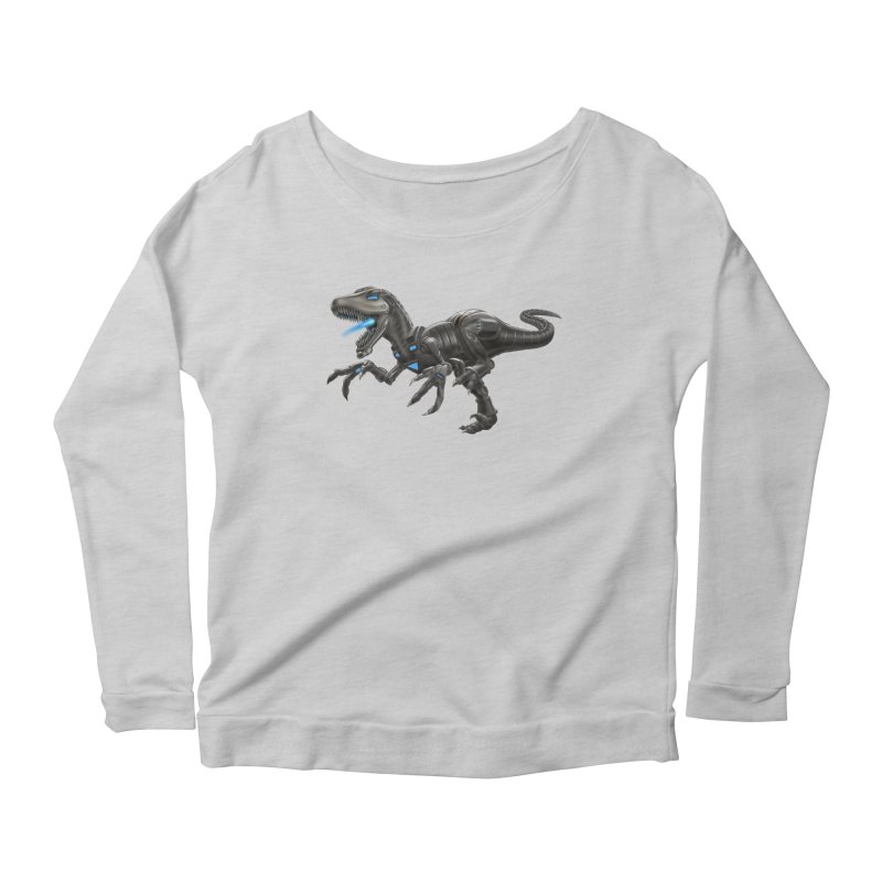 Metal Raptor Women's Scoop Neck Longsleeve T-Shirt by Ayota Illustration Shop