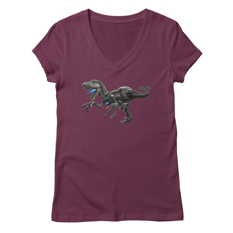 Metal Raptor Women's V-Neck by Ayota Illustration Shop