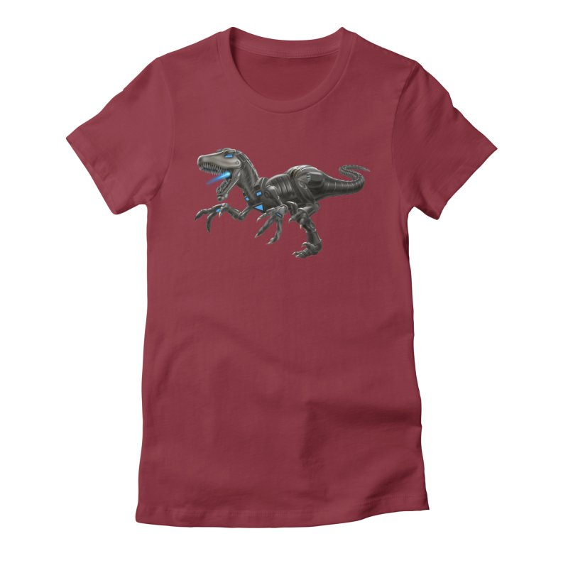 Metal Raptor Women's Fitted T-Shirt by Ayota Illustration Shop