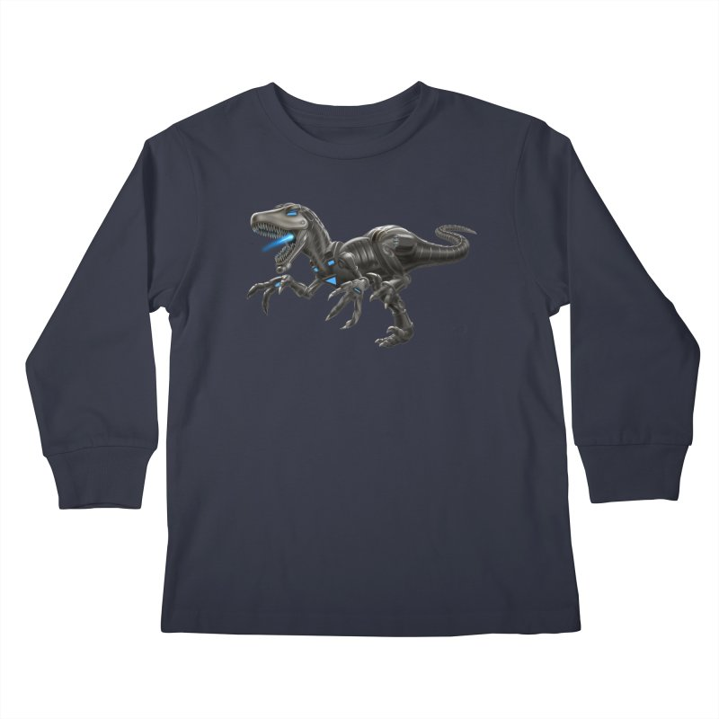 Metal Raptor Kids Longsleeve T-Shirt by Ayota Illustration Shop