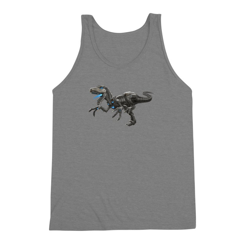 Metal Raptor Men's Triblend Tank by Ayota Illustration Shop