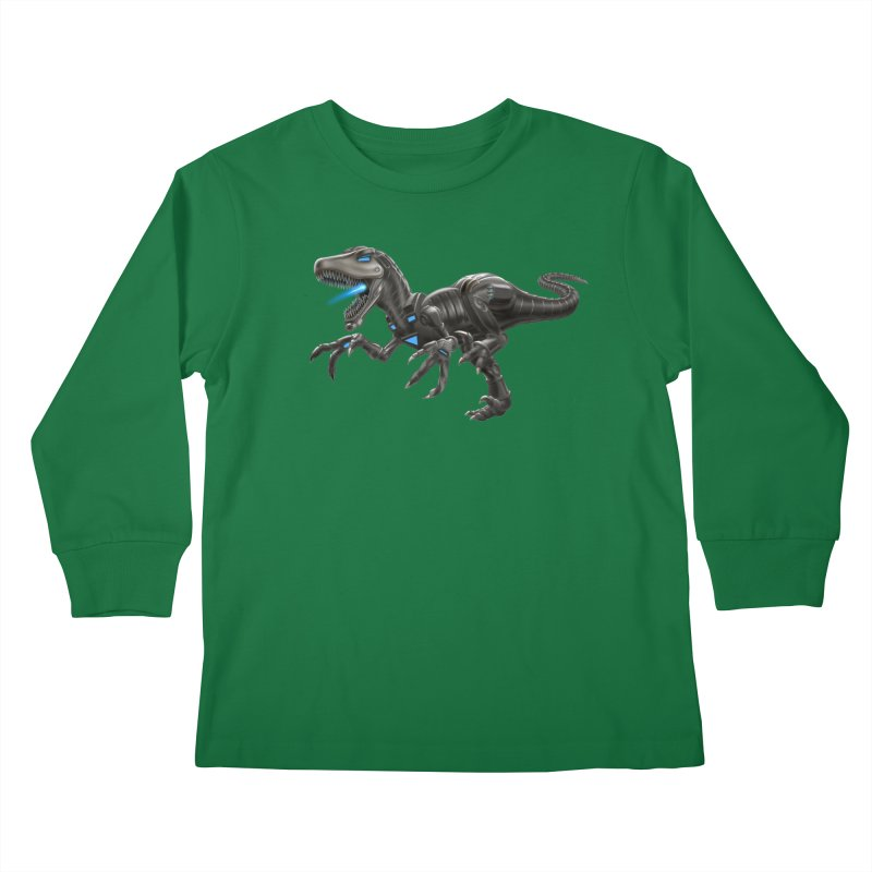 Metal Raptor Kids Longsleeve T-Shirt by Ayota Illustration Shop