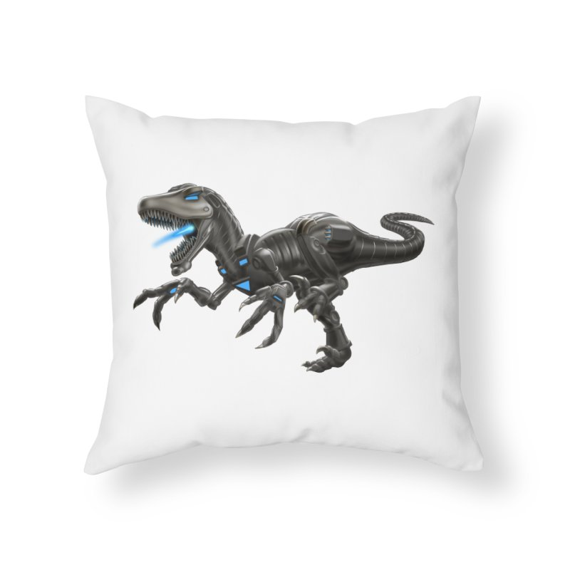 Metal Raptor Home Throw Pillow by Ayota Illustration Shop