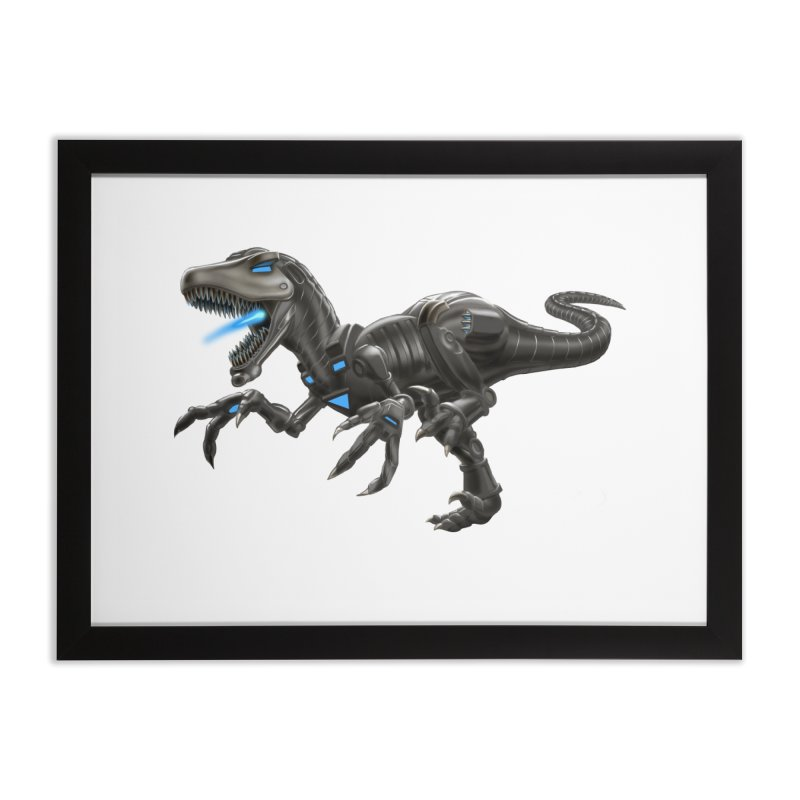 Metal Raptor Home Framed Fine Art Print by Ayota Illustration Shop