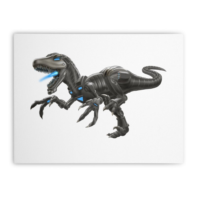 Metal Raptor Home Stretched Canvas by Ayota Illustration Shop