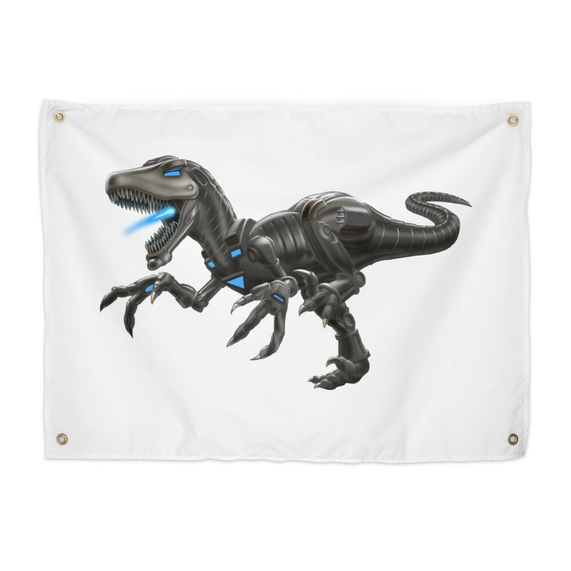 Metal Raptor Home Tapestry by Ayota Illustration Shop