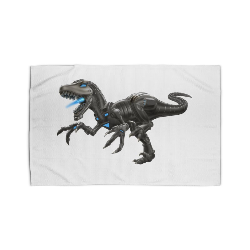 Metal Raptor Home Rug by Ayota Illustration Shop