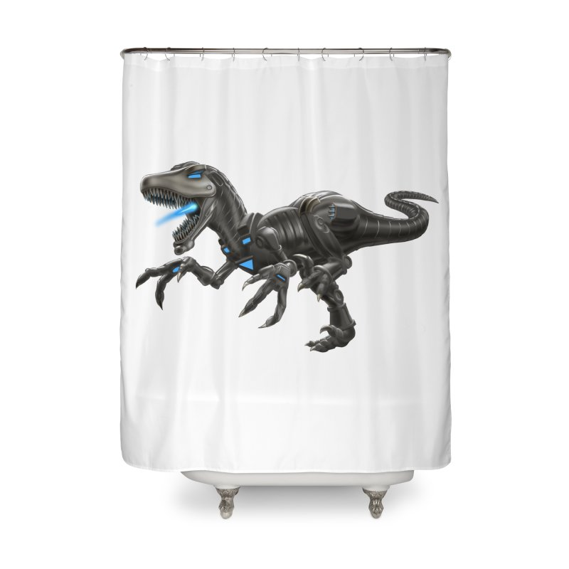 Metal Raptor Home Shower Curtain by Ayota Illustration Shop