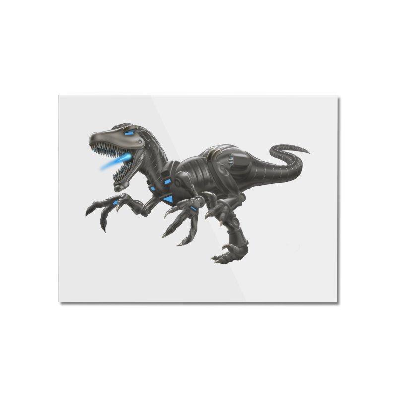 Metal Raptor Home Mounted Acrylic Print by Ayota Illustration Shop