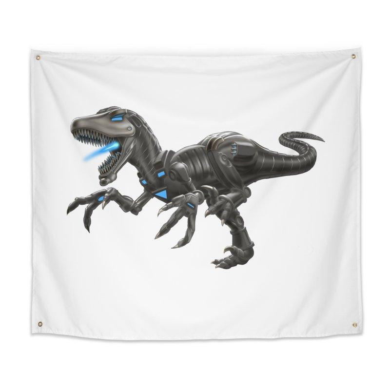 Metal Raptor Home Tapestry by Ayota Illustration Shop