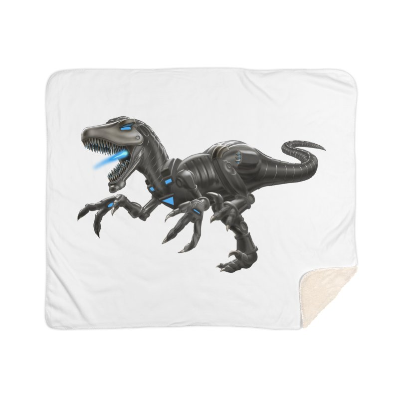 Metal Raptor Home Sherpa Blanket Blanket by Ayota Illustration Shop