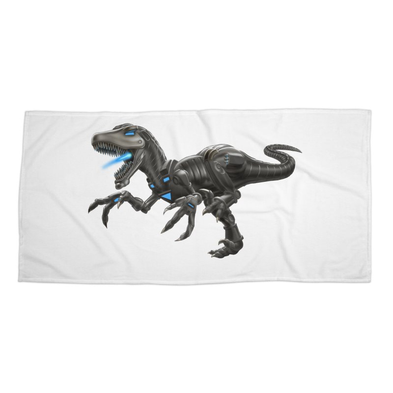 Metal Raptor Accessories Beach Towel by Ayota Illustration Shop