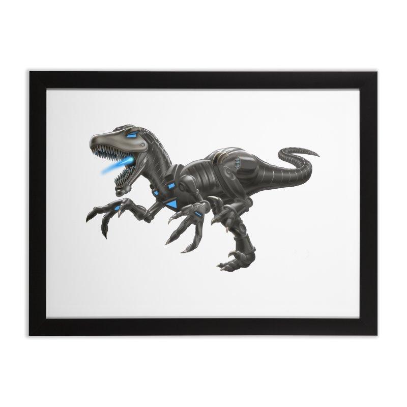 Metal Raptor Home Framed Fine Art Print by Ayota Illustration Shop