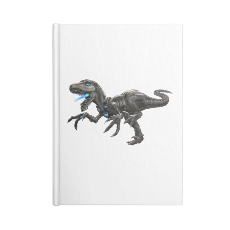 Metal Raptor Accessories Blank Journal Notebook by Ayota Illustration Shop