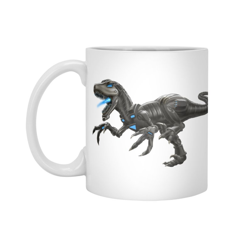 Metal Raptor Accessories Mug by Ayota Illustration Shop