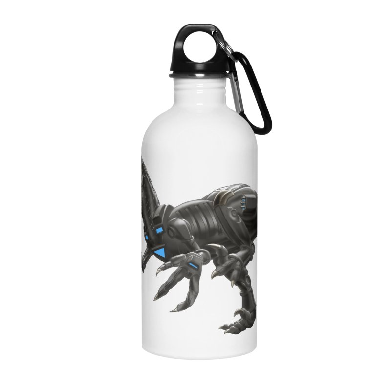 Metal Raptor Accessories Water Bottle by Ayota Illustration Shop