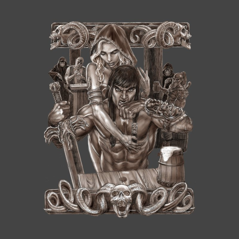 Barbarian Brew Home Stretched Canvas by Ayota Illustration Shop