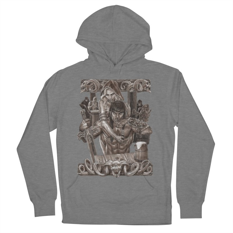 Barbarian Brew Women's French Terry Pullover Hoody by Ayota Illustration Shop