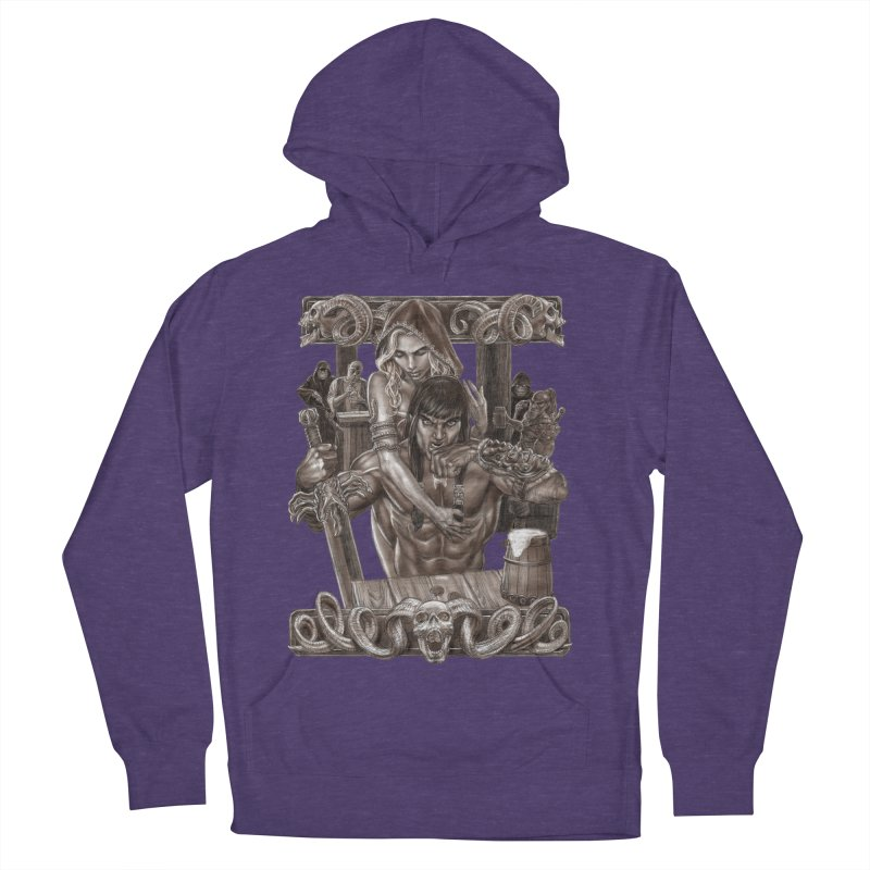 Barbarian Brew Men's French Terry Pullover Hoody by Ayota Illustration Shop
