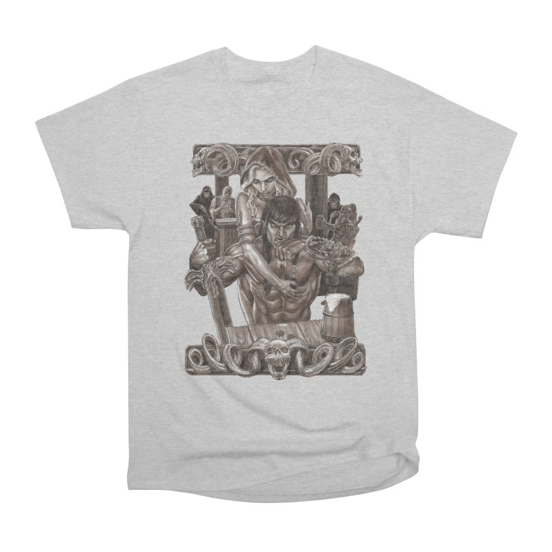 Barbarian Brew Men's Heavyweight T-Shirt by Ayota Illustration Shop