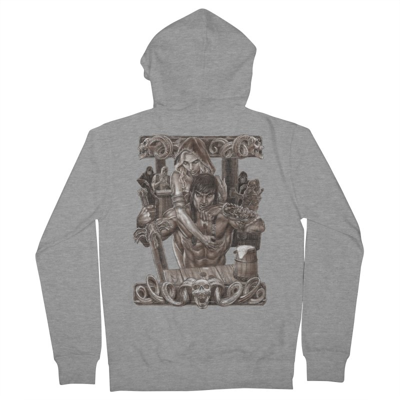 Barbarian Brew Women's French Terry Zip-Up Hoody by Ayota Illustration Shop