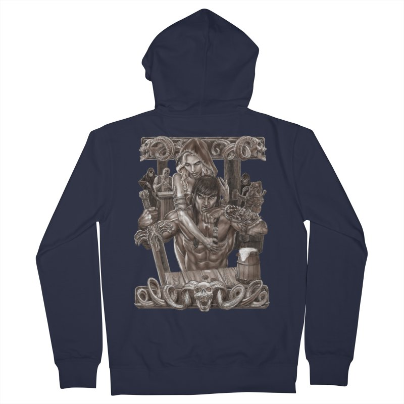 Barbarian Brew Men's French Terry Zip-Up Hoody by Ayota Illustration Shop